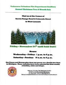 Vedauwoo Volunteer Fire Department Christmas Tree & Wreath Sale @ Colorado | United States