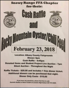 FFA Rocky Mountain Oyster and Chili Feed @ Albany County Fairgrounds | Laramie | Wyoming | United States
