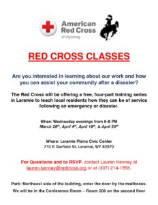 Red Cross Classes @ Laramie Plains Civic Center | Laramie | Wyoming | United States