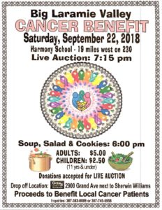 Big Laramie Valley Cancer Benefit @ Harmony School | Laramie | Wyoming | United States