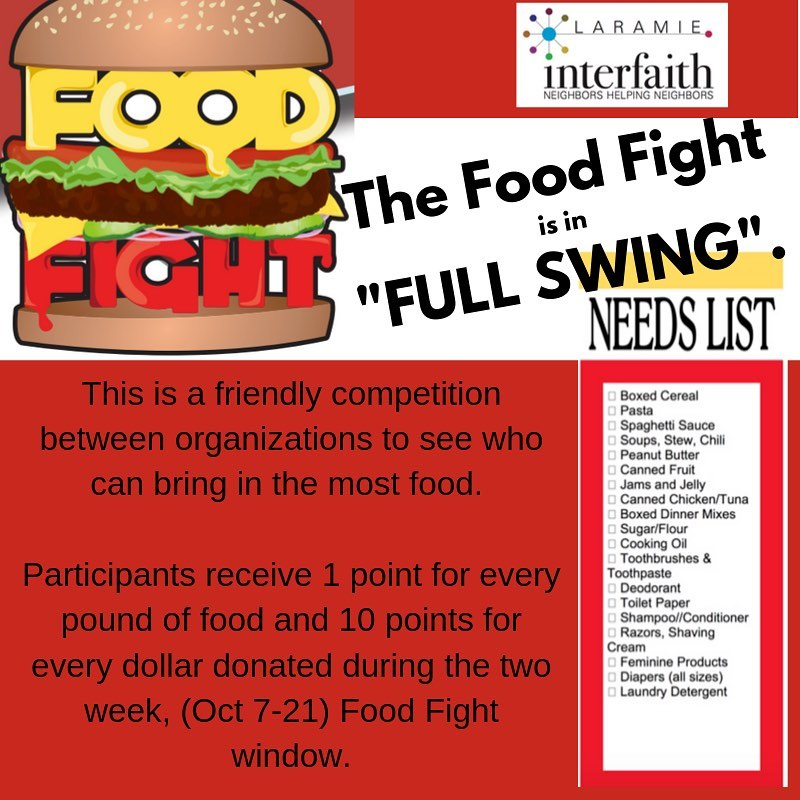 "Interfaith Good Samaritan ""Food Fight"" Donation Campaign"